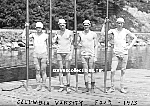 1913 Columbia Rowing Crew Team Photo - Gay Interest