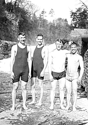 Early 4 Hot Male Wet Swimmers Photo - Gay Interest