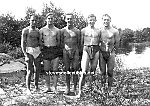Early Hot Male Shirtless Swimmers Photo-gay Int