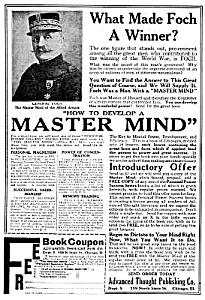 1919 How To Develop A Master Mind Magazine Ad