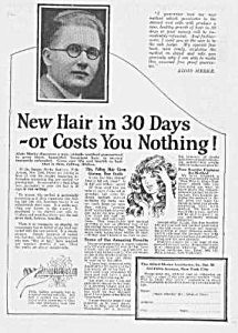 1924 Hair Restorer That Really Works Quack Ad