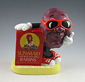 1987 California Raisins Sun-maid Raisins Toy Bank