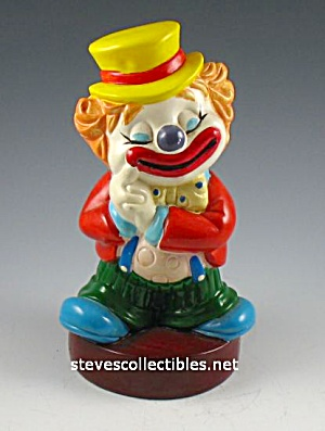 1970s Colorful Clown Hard Vinyl Toy Bank 2
