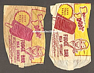 Lot Of 2-1950s Howdy Doody Ice Cream Premium Bags