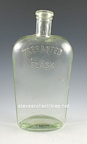 Antique Bottle: Warranted Flask