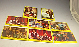 1971 Partridge Family 8 Yellow Collector Cards Lot 3