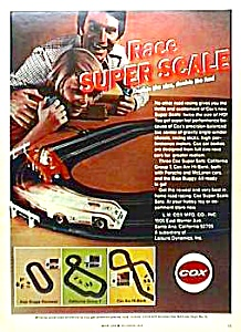 1973 Cox Super Scale Slot Car Toy Ad