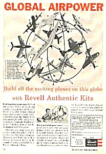1957 Revelle Airplane Model Kit Magazine Ad
