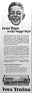 1922 Ives Train Toy Ad