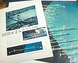 1964 Ny Bridges New York Worlds Fair Mag. Article