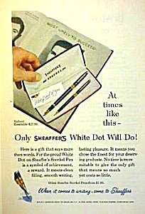 1957 Sheaffer Snorkel Pen/pencil Set Ad