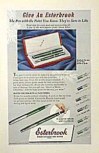 1950 Esterbrook Fountain Pen Ad