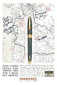 1960 Sheaffer Pfm (Pen For Men) Pen Color Ad