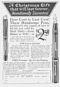 1926 Newark Fountain Pen Ad