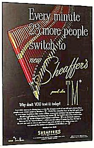 1952 Sheaffer Fountain Pen Color Ad