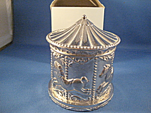 Silver Plated Carousel Bank