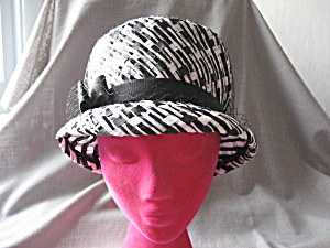 Black And White Straw Hat