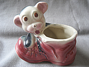 Old Shawnee Dog With Shoe Planter
