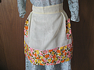 Orange Flower Apron