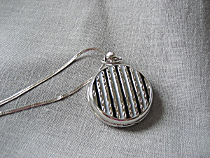 Quartz Pocket Watche With Silver Chain