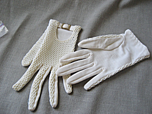 Vintage Buckled Gloves