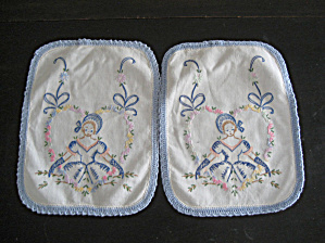 Hand Embroidered Arm Chair Or Dresser Scarves