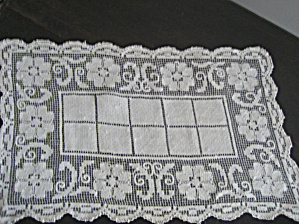 Tan Flowered Doily