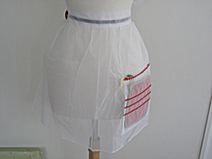 Red Button Nylon Apron