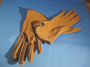 Stetson Brown Trimmed Gloves