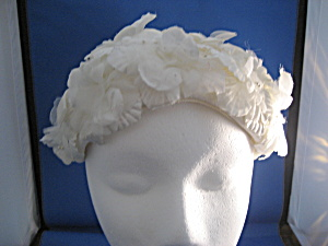 White Flowered Hat