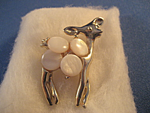 Mother Of Pearl Deer Pin