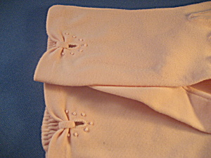 Pink Cotton Short Gloves