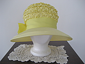 Yellow Brimmed Straw Hat