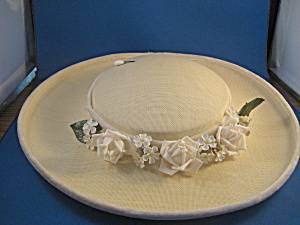 Flowered Straw Hat