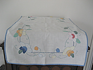 Hand Made And Embroidered Dresser Scarf