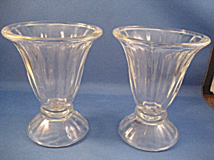 Two Libbey Sundae Dishes