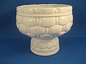 White Basket Looking Lefton Planter