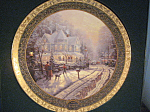 The Holiday Gathering By Thomas Kinkade Plate