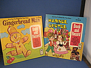 Hansel And Gretel And Gingerbread Man Book And Record