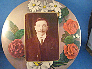 Rose Frame Tin Type Picture Of A Man
