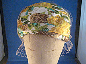 Metallic Flower Hat