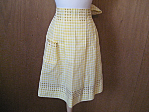 Yellow Pleated Apron