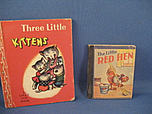 Vintage Three Little Kittens And Little Red Hen Books
