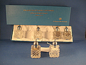 Box Set Of Six Miniature Salt And Pepper Shakers