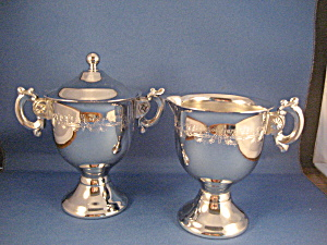 Silver Plated Cream And Sugar