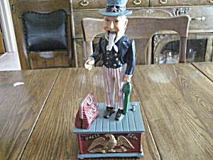 Cast Iron Uncle Sam Bank