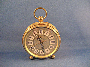 Gold Trim Artco Alarm Clock From Germany