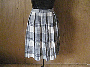 Black, Gray, And White Pleated Skirt