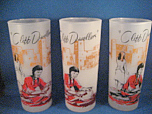 Three Cliff Dwellers Theme Drinking Glasses