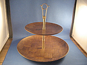 Wooden Two Tier Serving Tray